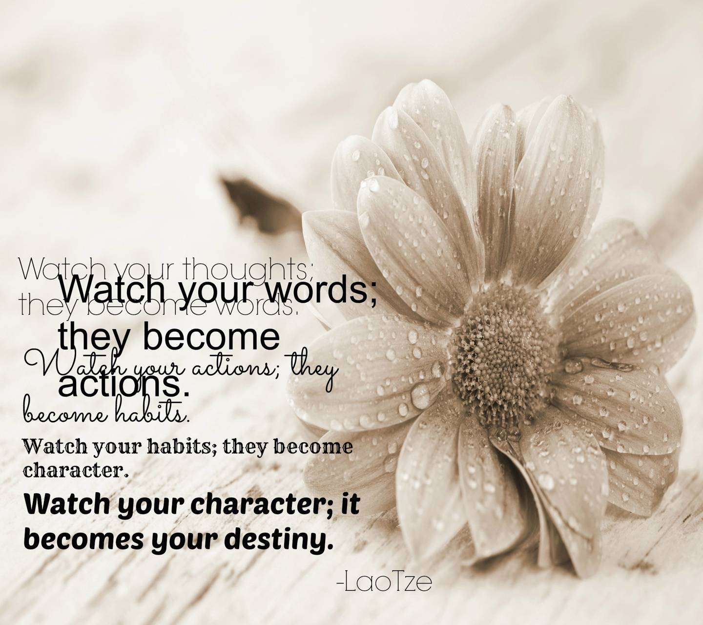 Watch Your Words Wallpaper by ____S - 0f