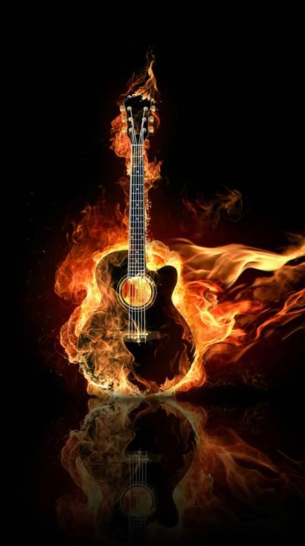 Fire Guitar 3d