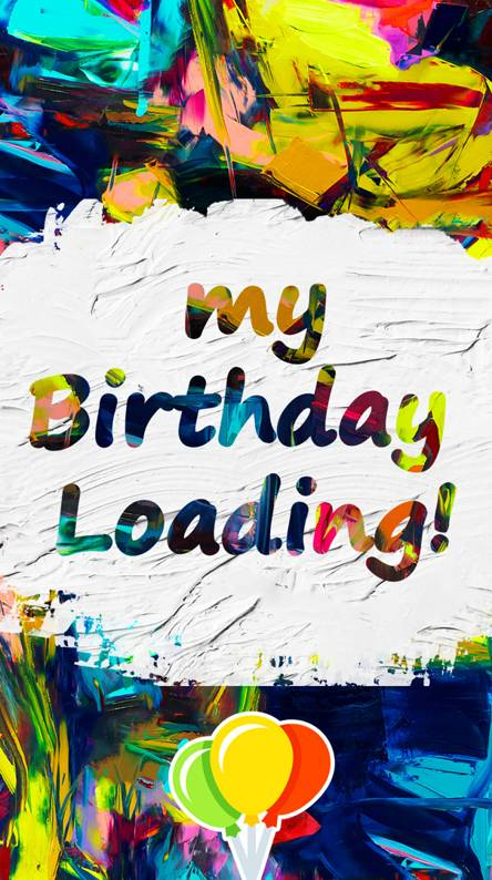 birthday loading