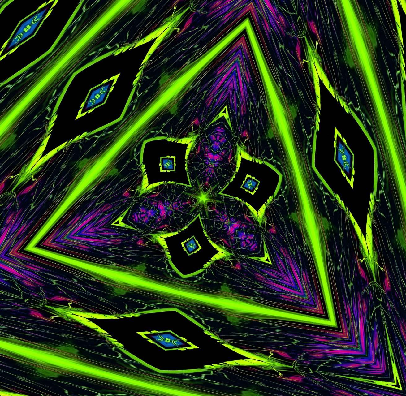 Digital triangle art