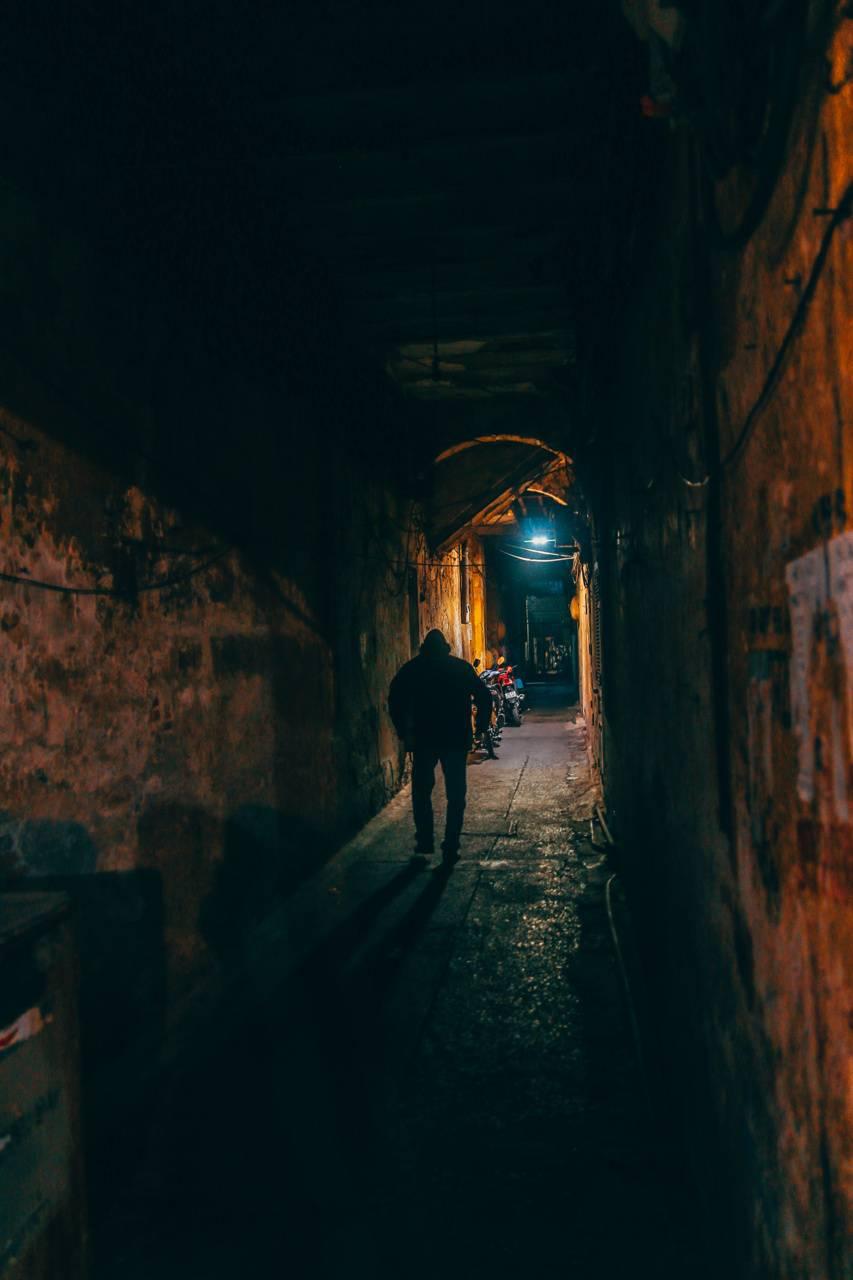 Alley Dark indoors