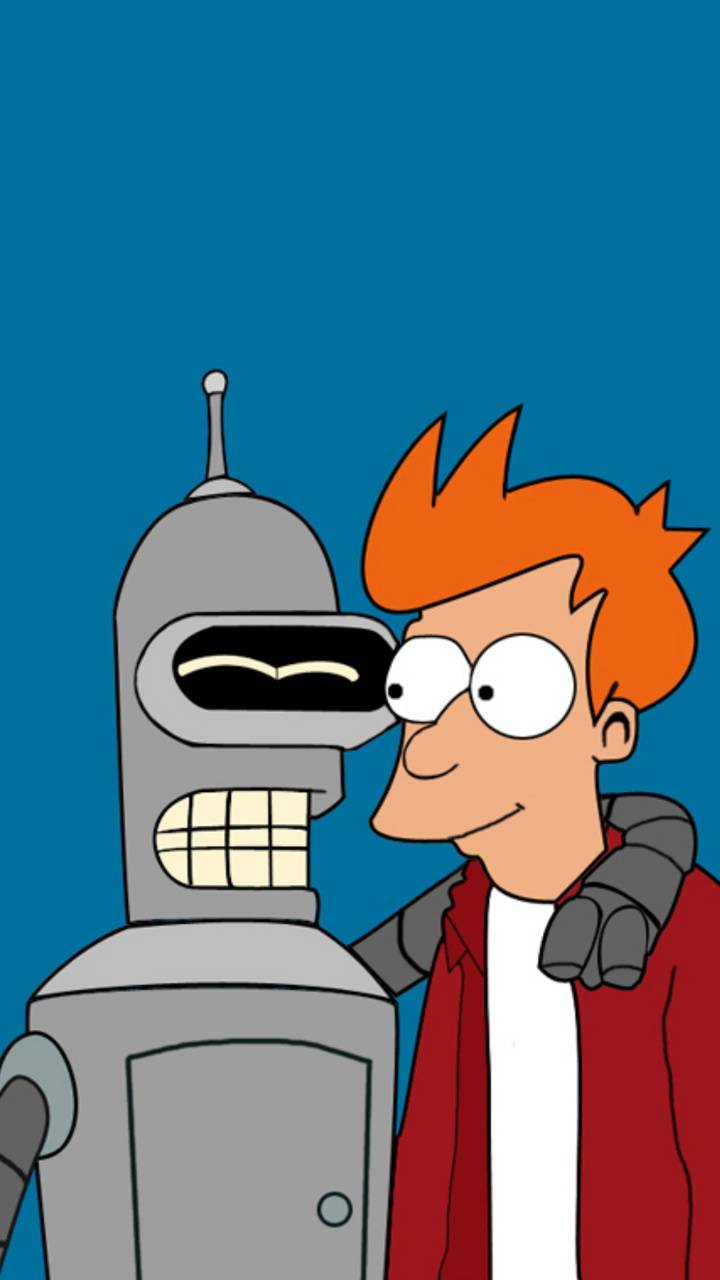 Bender y Fry wallpaper by SoZoNe85 - 01