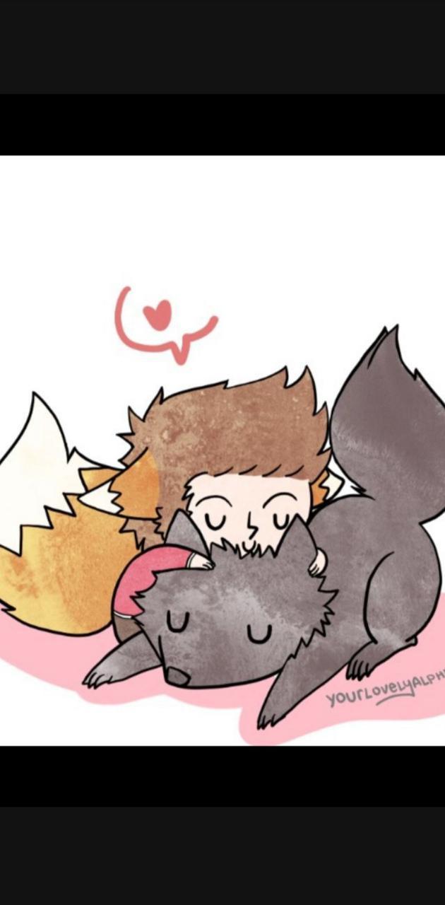 Cuddle wolf
