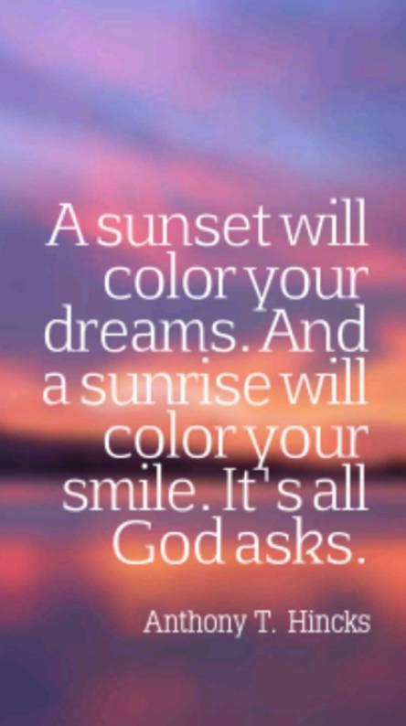True sunset qoute