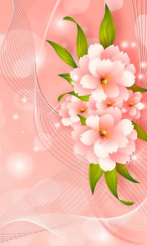 Pink Floral Waves