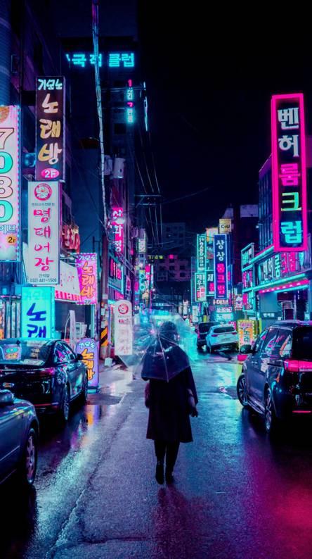 Neon Lights in Seoul