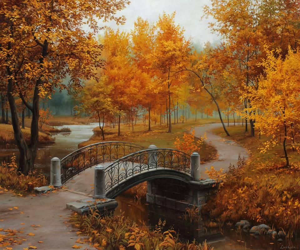 Autumn In Old Park