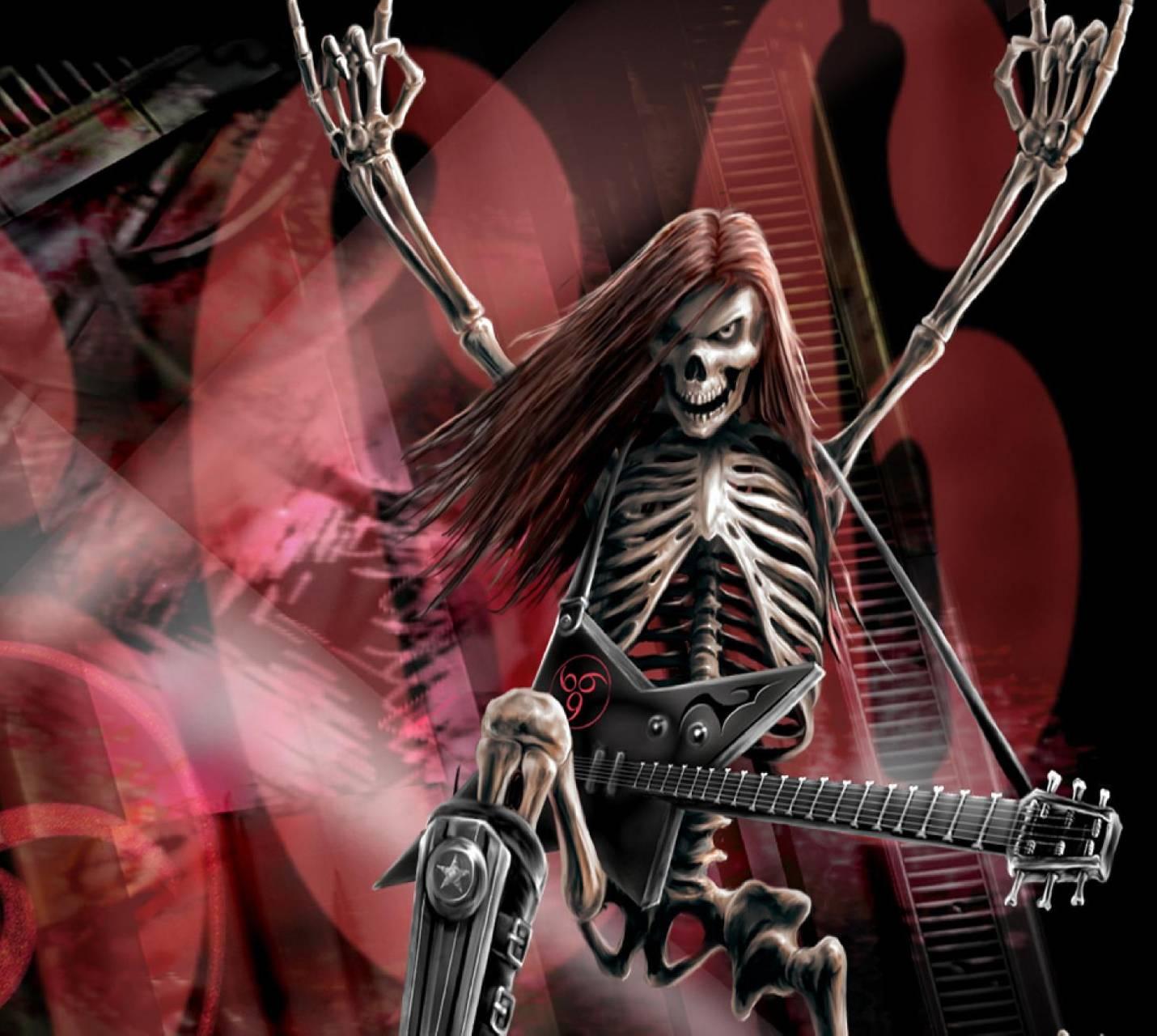 Heavy Metal Skeleton Wallpaper by _ANGEL_BOY__ - fc - Free