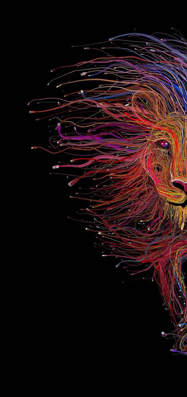 Lion creative art