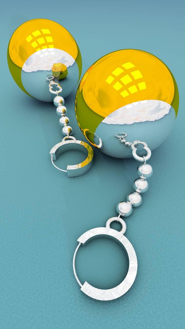 potara earrings 3d