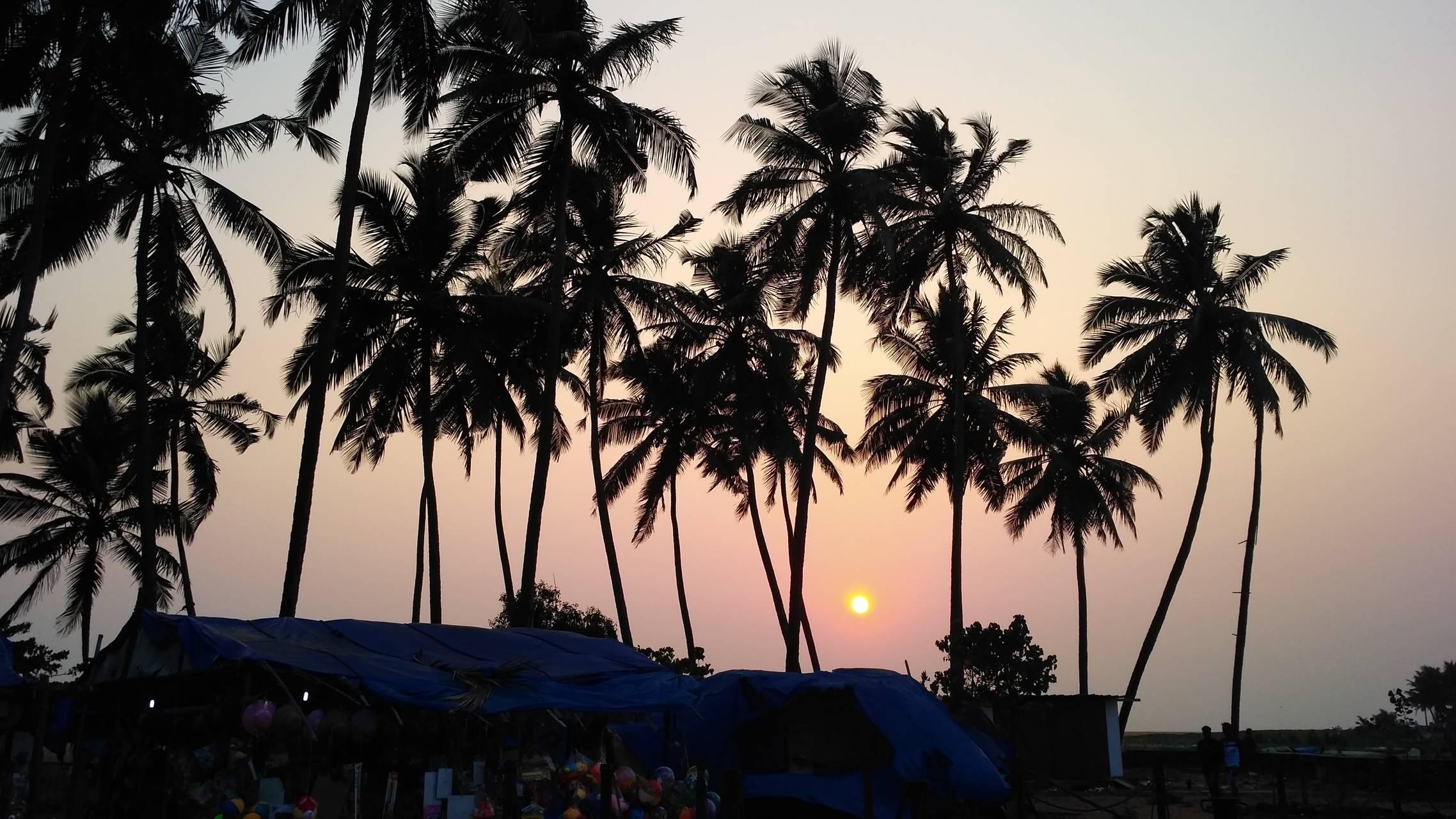Sun set at veli