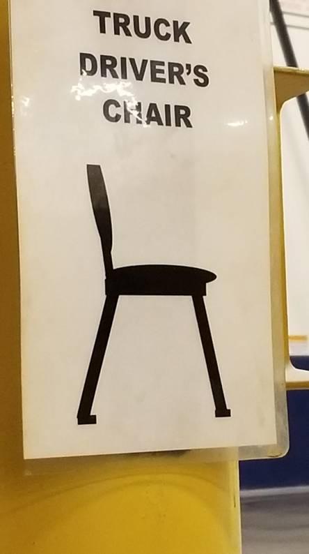Truck Drivers Chair