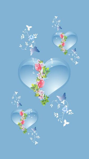 Blue hearts light