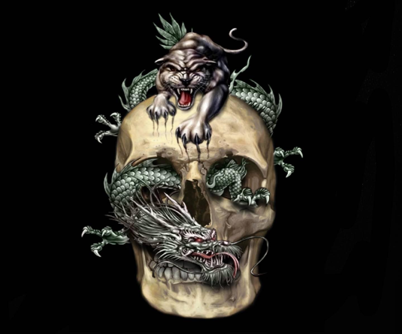 Tiger Dragon Skull