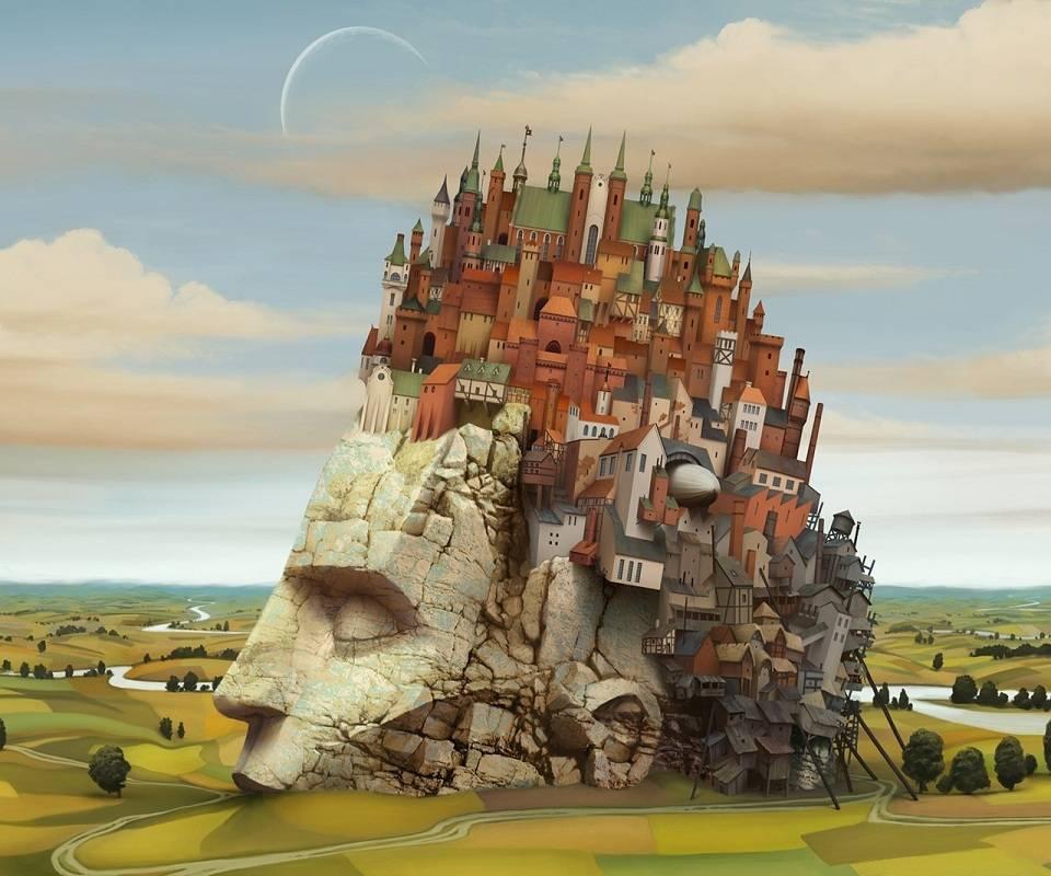 City Inside A Head