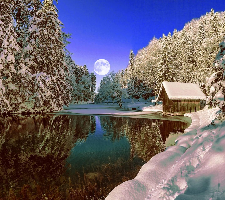 hd snowy landscape