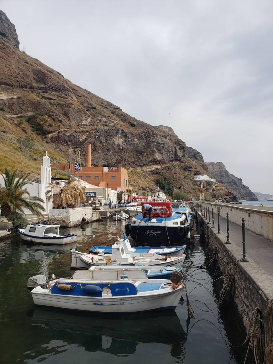 Santorini harbour