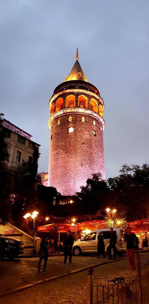 Galata Tower in Dark