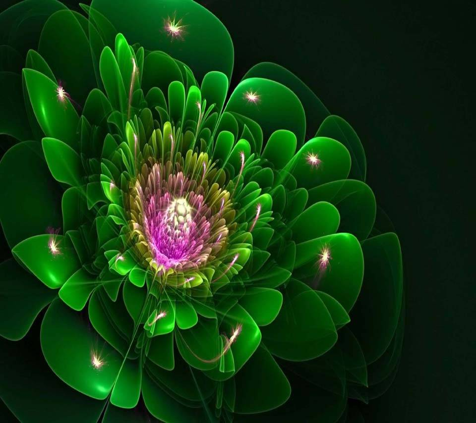 Fractal flower green