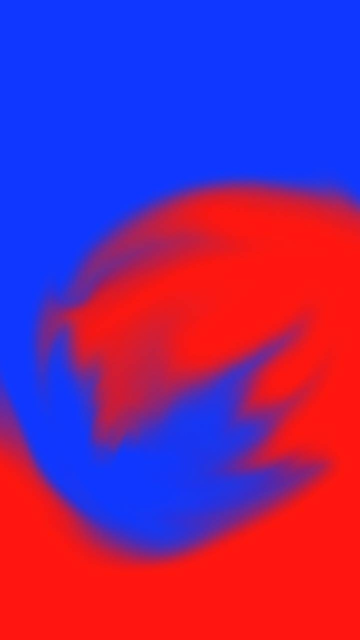 Red and blue art
