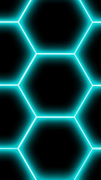 Neon Hex - Blue