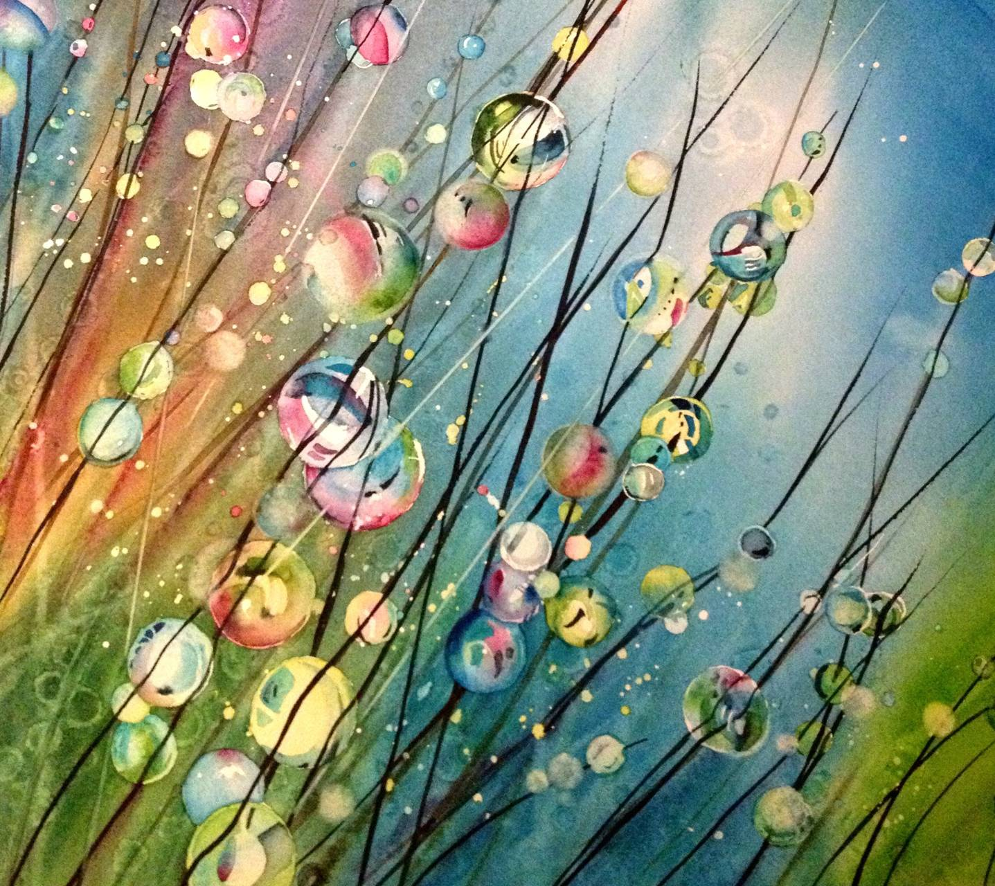 Dew Drops Watercolor