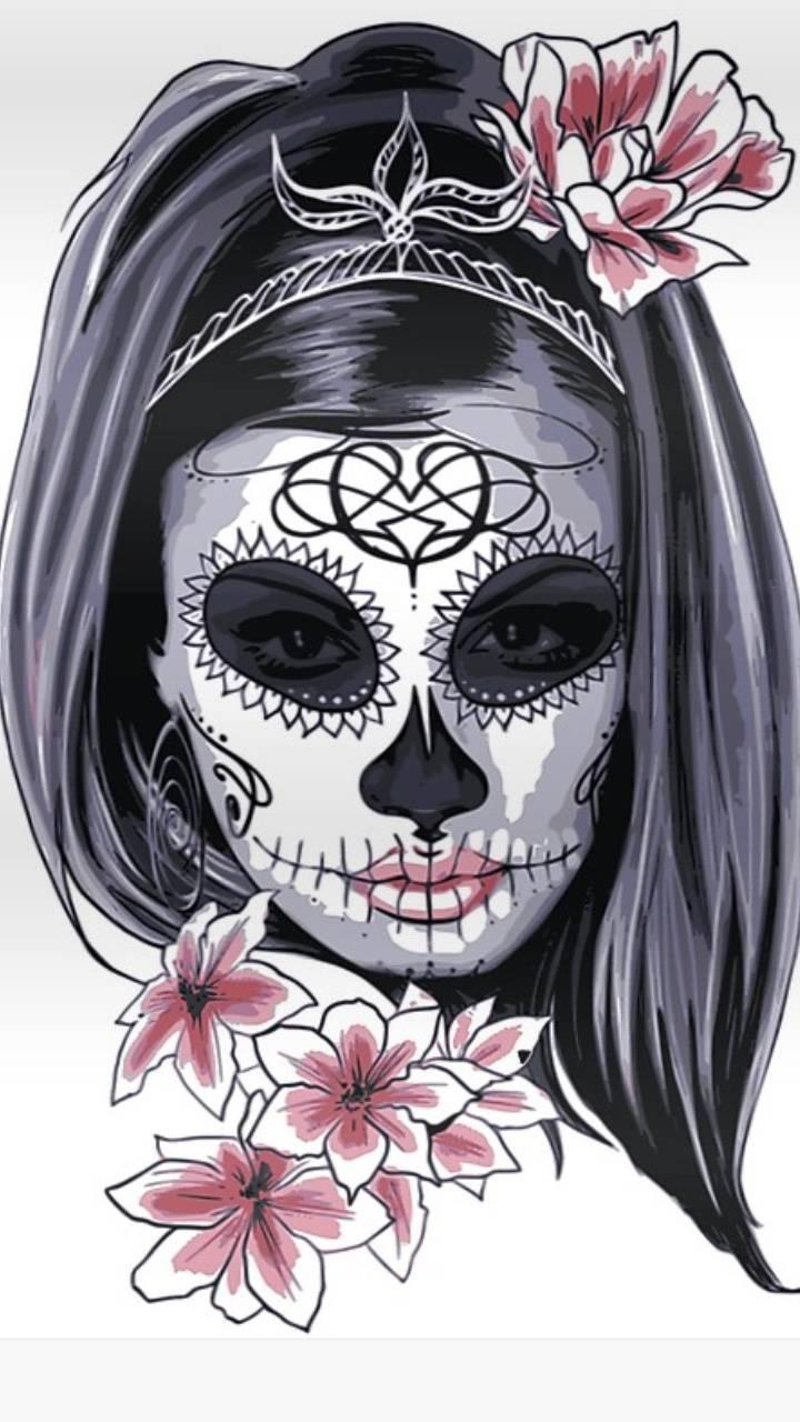 Sugar skull floral