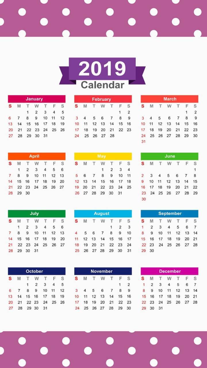 2019 Calendar v11