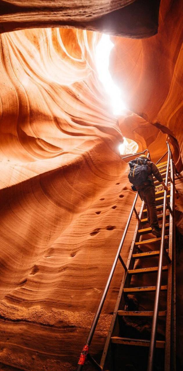 Climbing caves