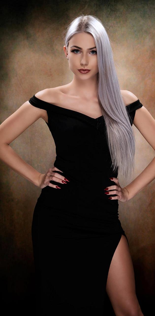 Nice white hair