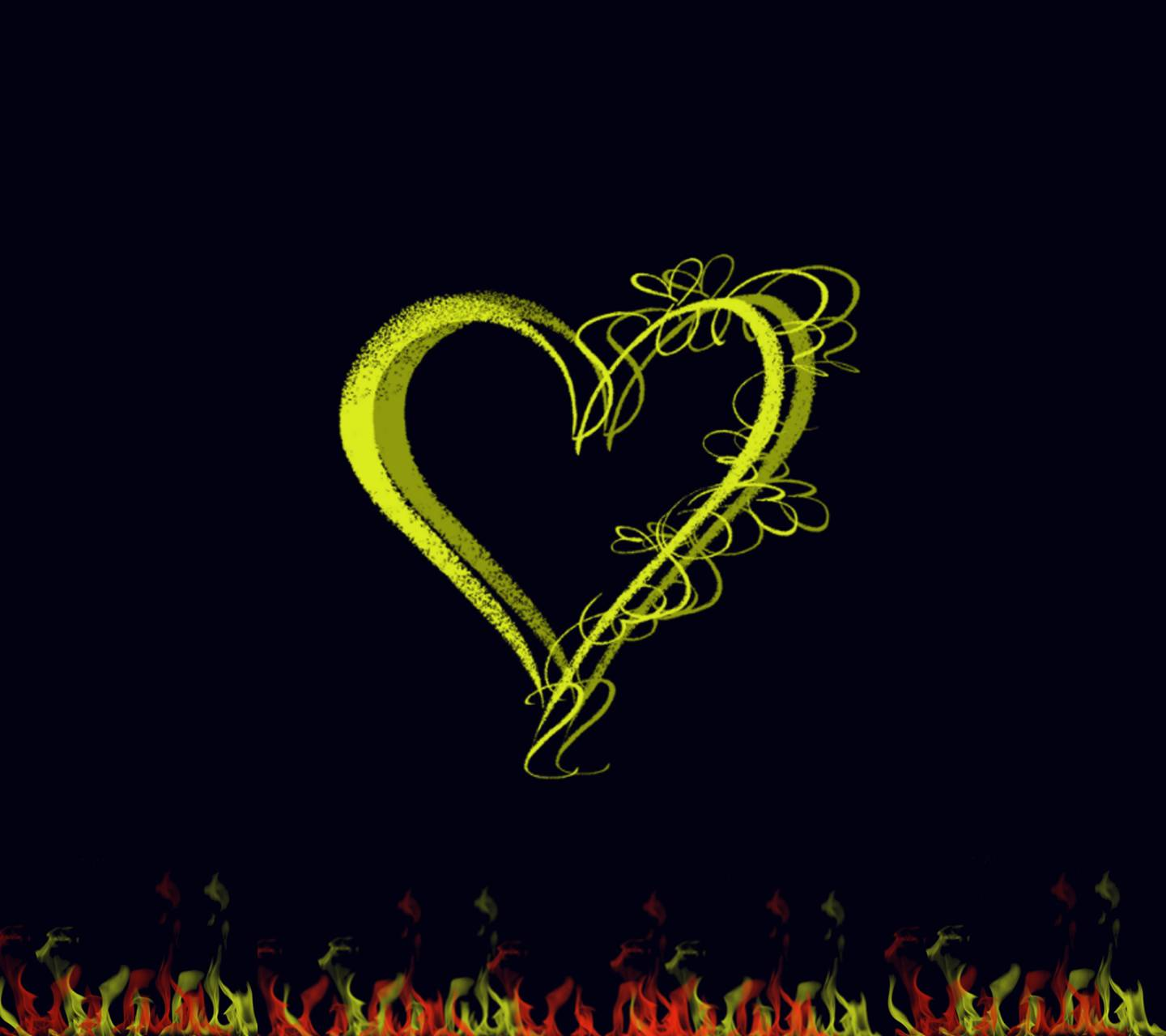 Heart 3d yellow