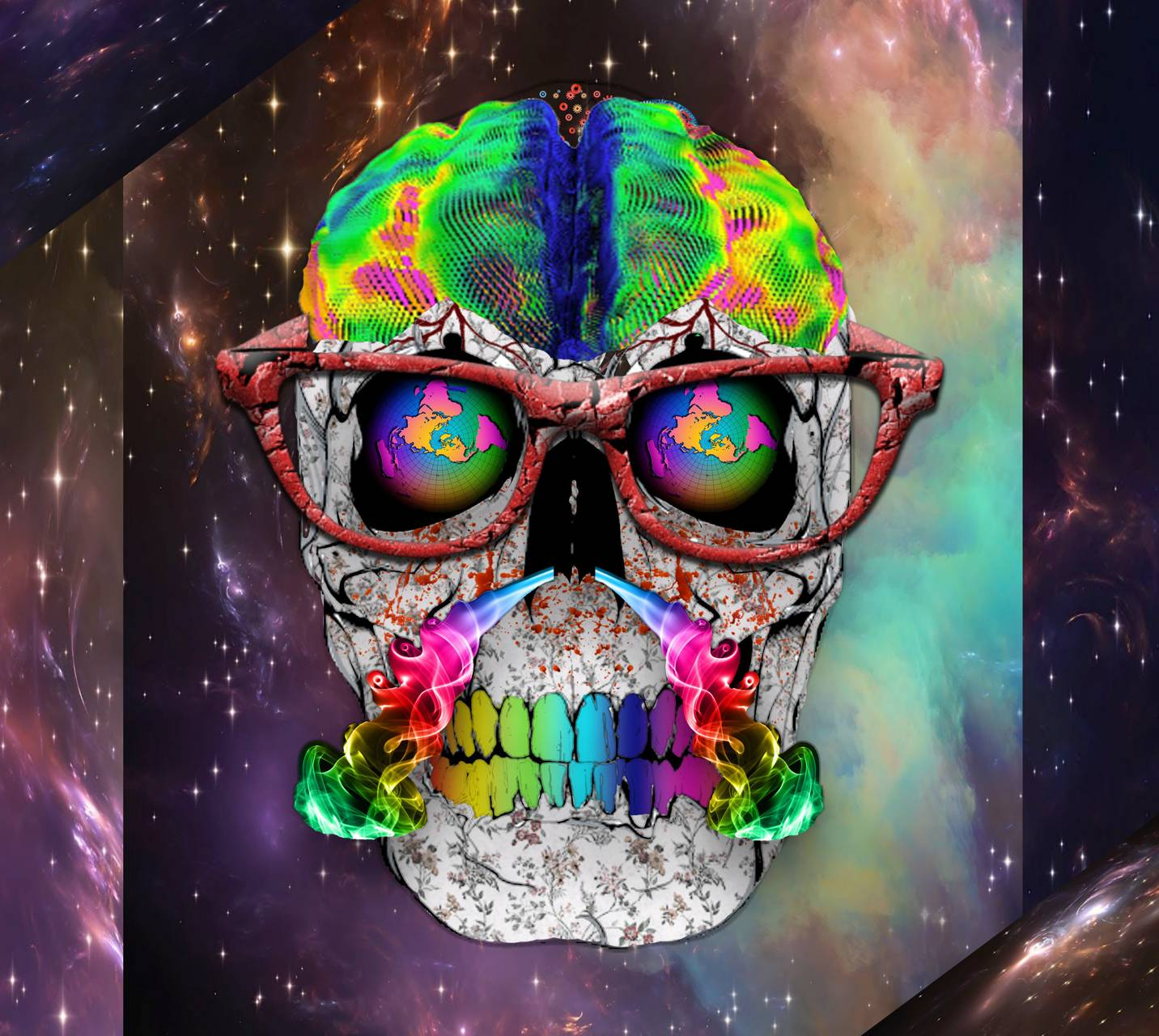 Skull Abstract Smoke