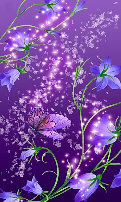 Blue Bells On Purple