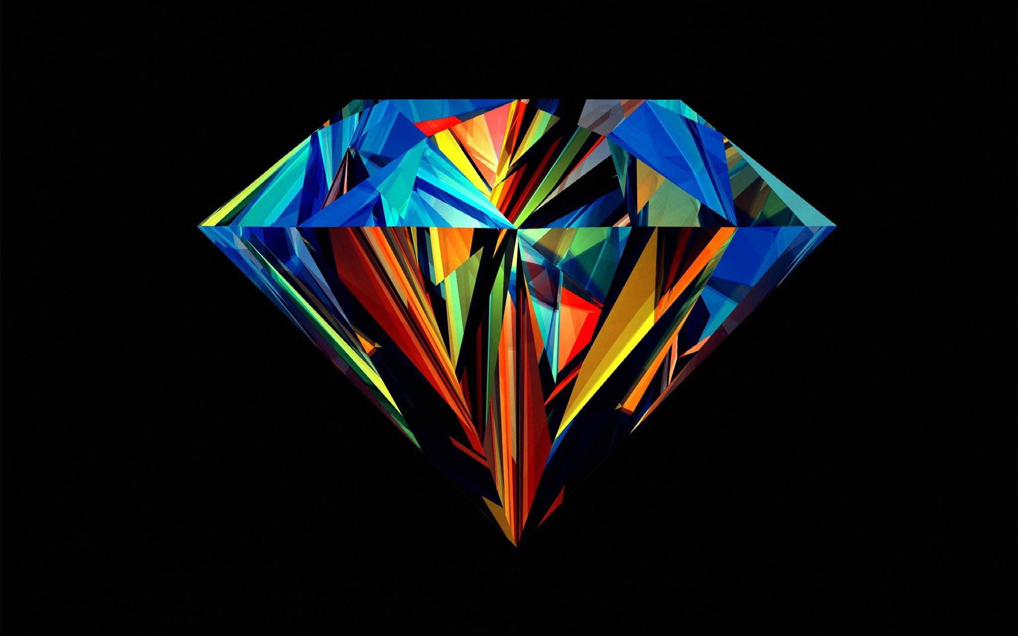 hd colorful diamond