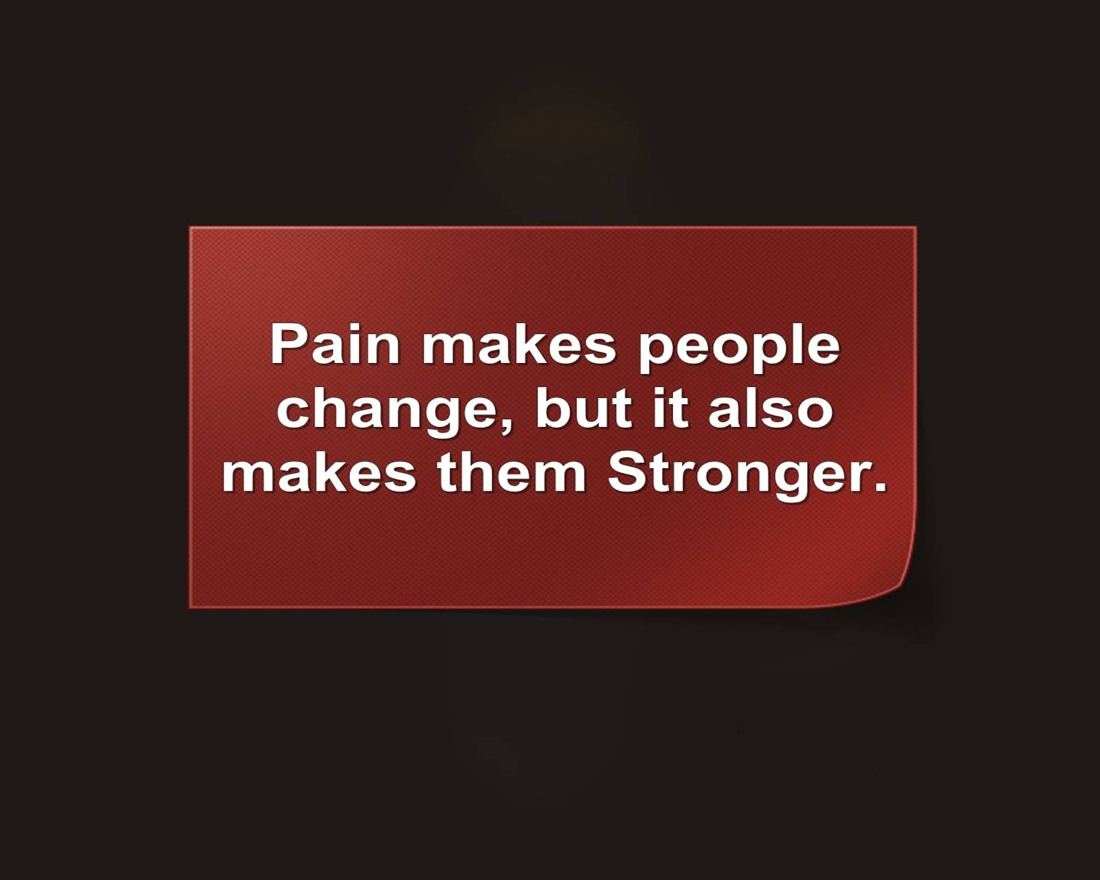 Pain Makes