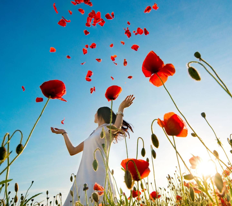 Girl In Poppy