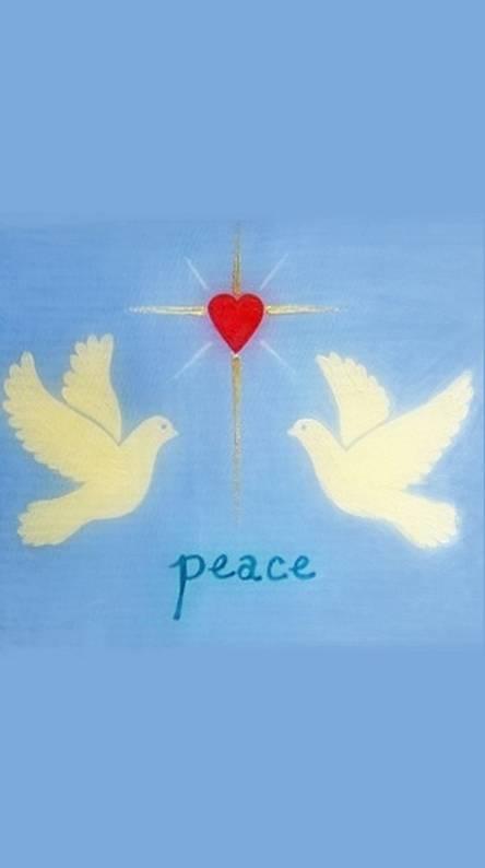 Heart Peace Doves