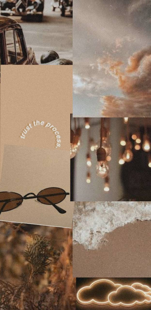 brown aesthetic wallpaper by bails l