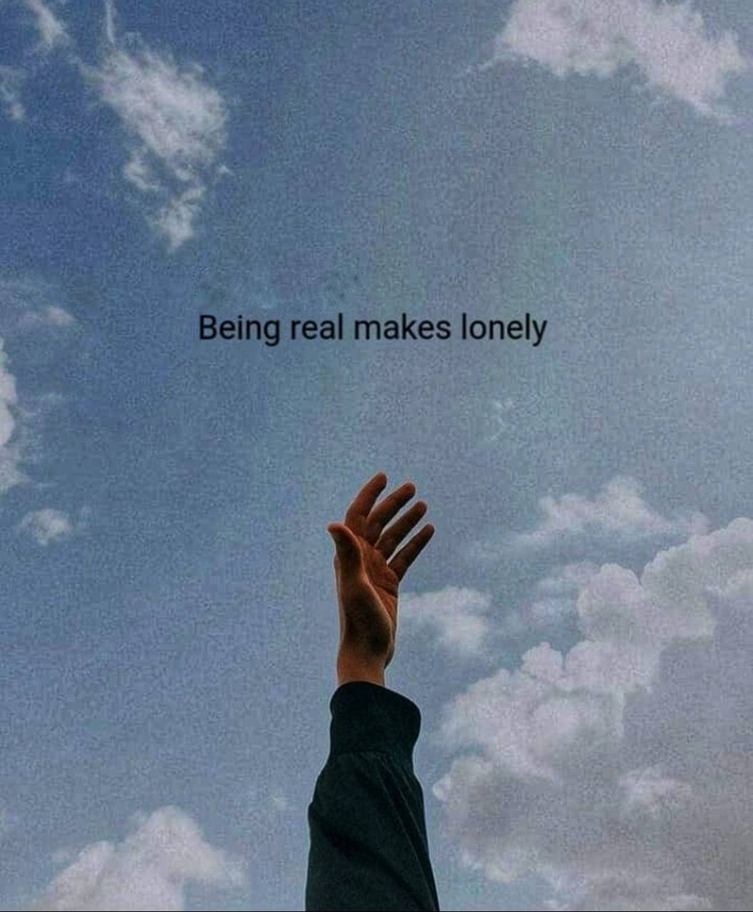 Alone but real