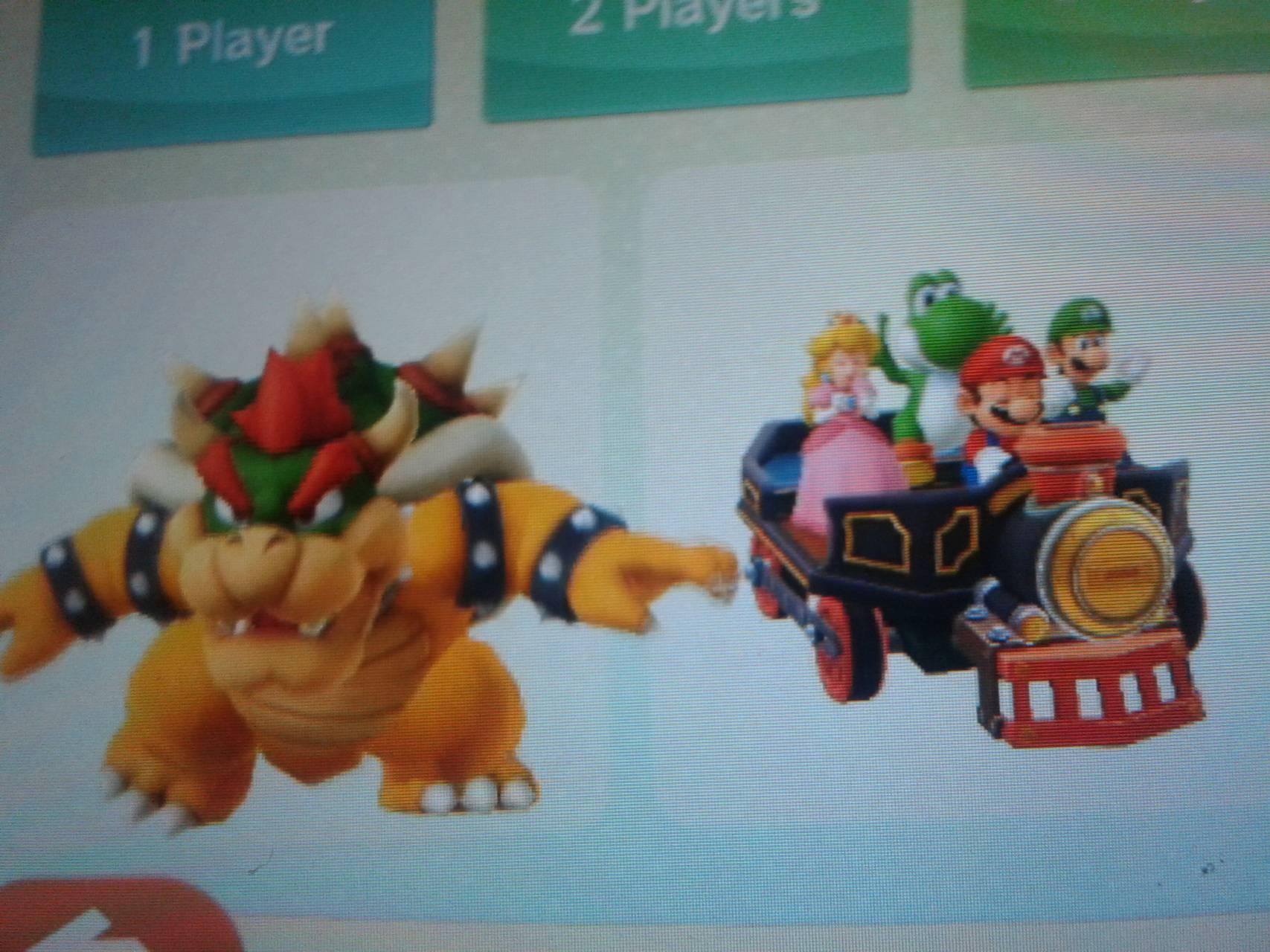 Mario team vs bowser
