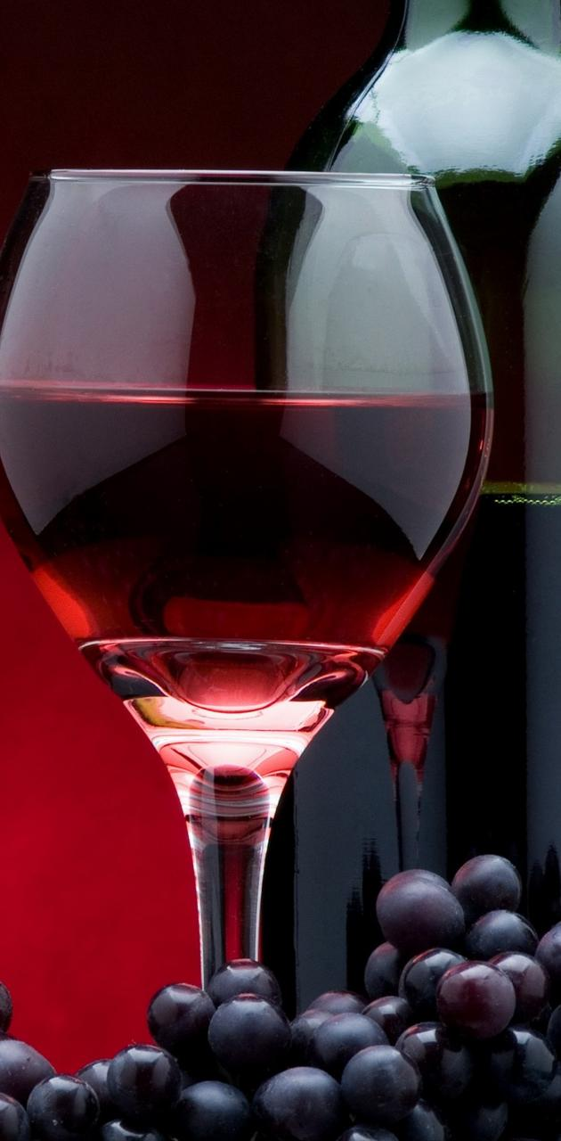 Grapes Glass Bottle