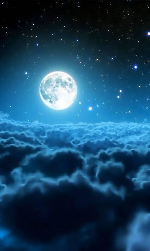Moon over sky