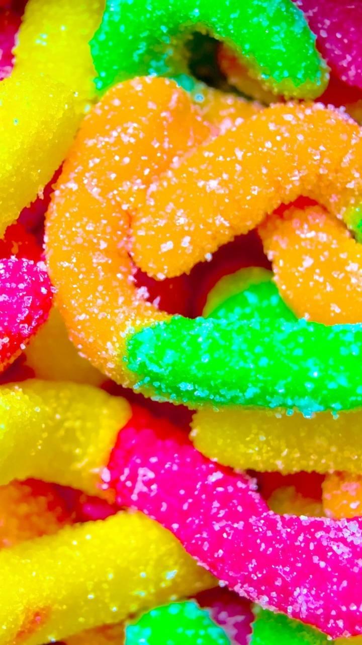 Neon Gummy Worms