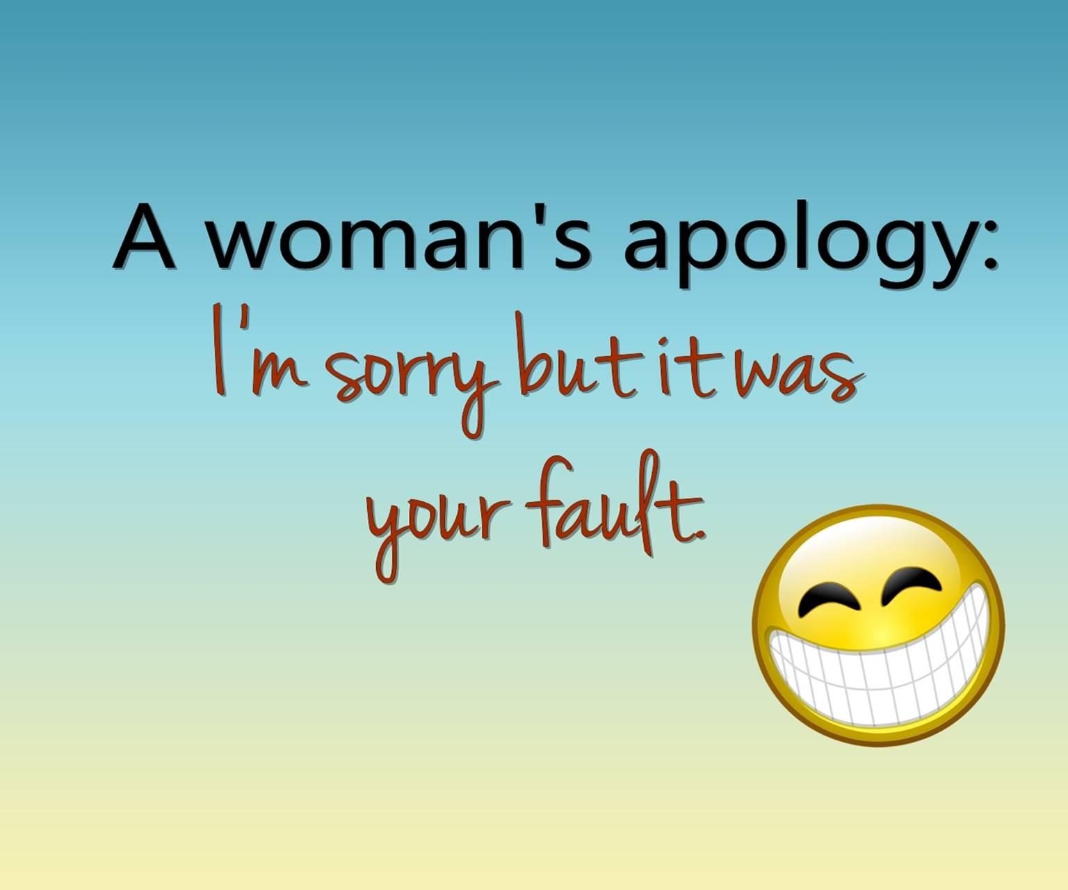womans apology