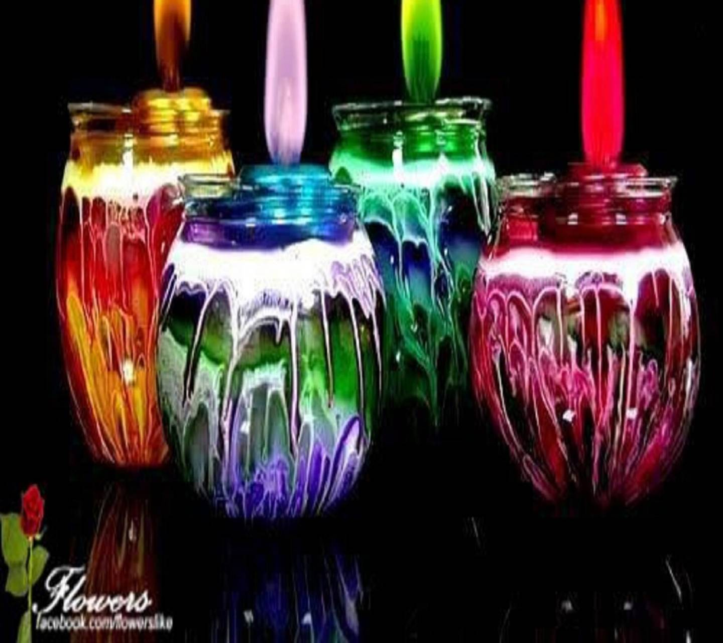 candle of colors