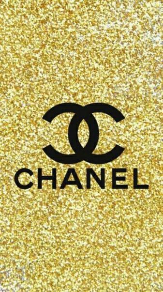 Chanel glitter logo