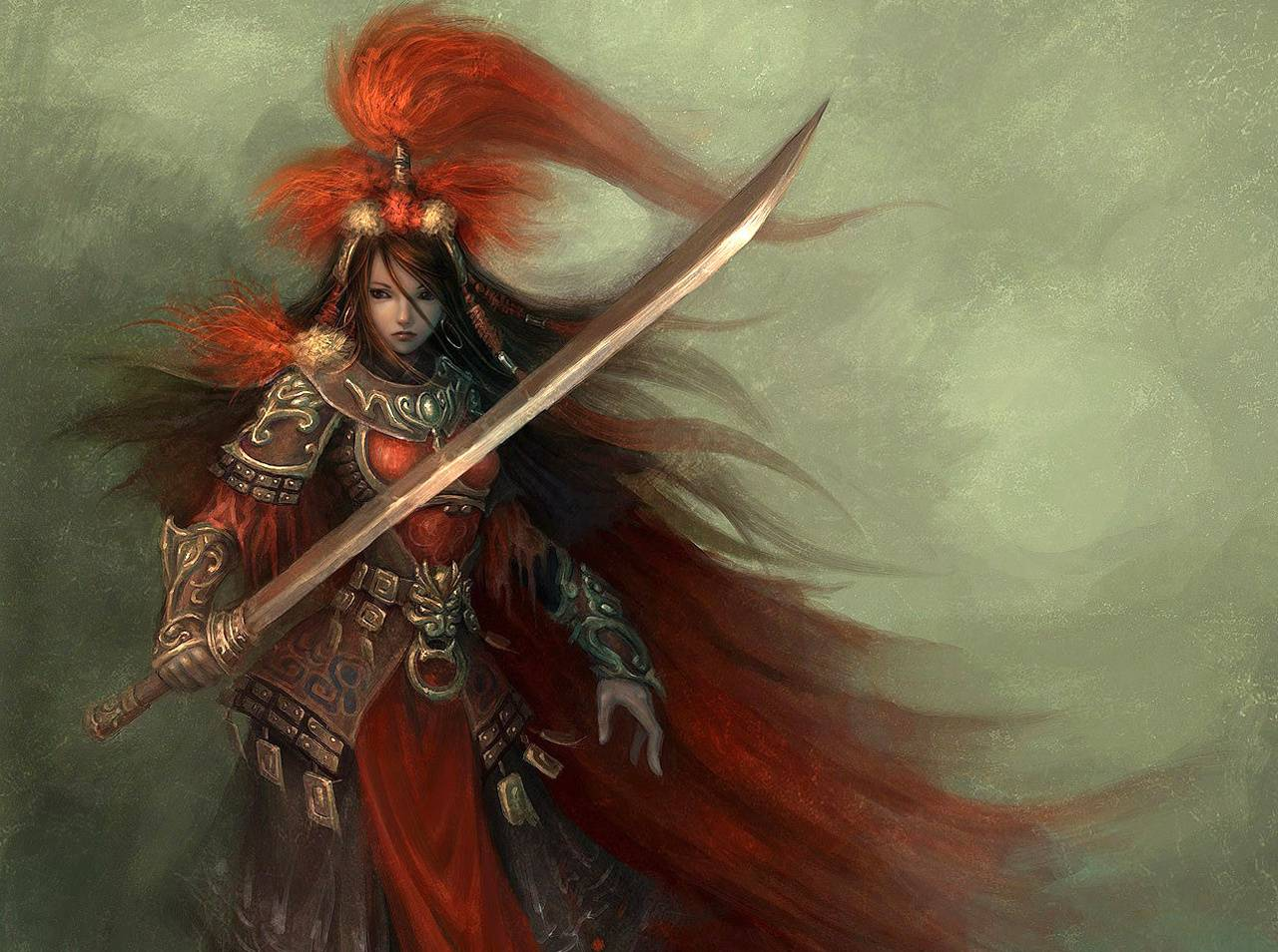 Anime Female Warrior