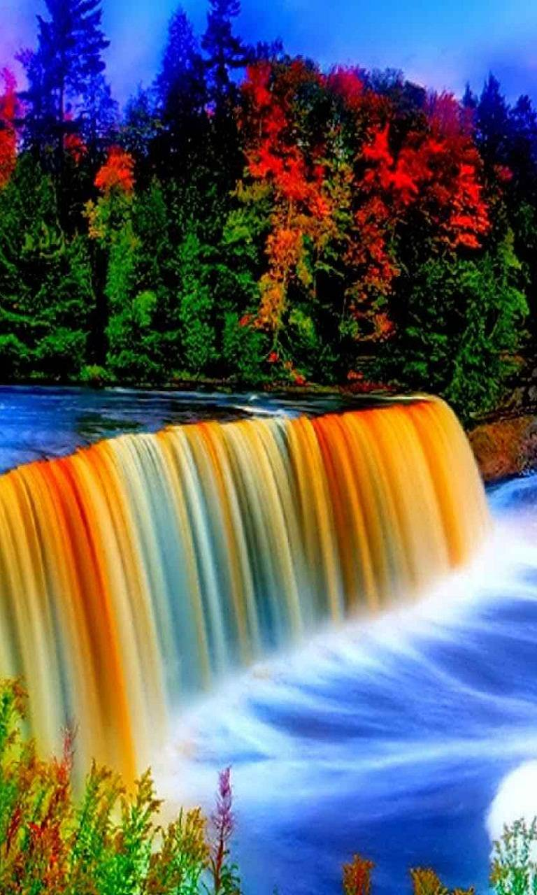 Colorful Waterfall