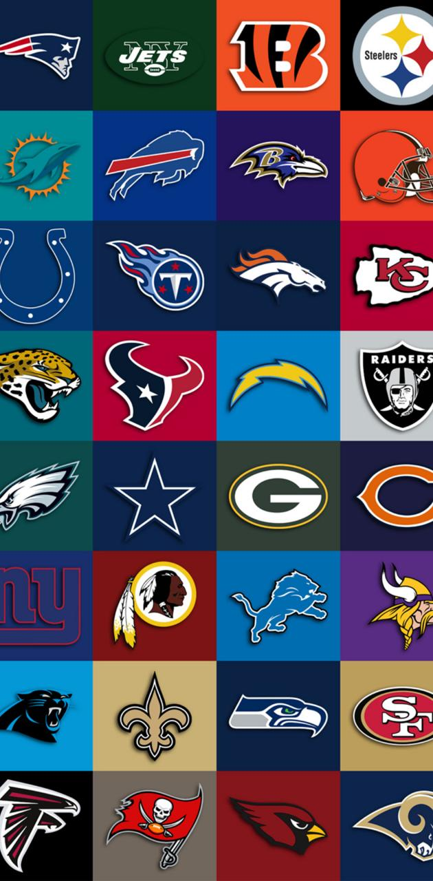 NFL team collage