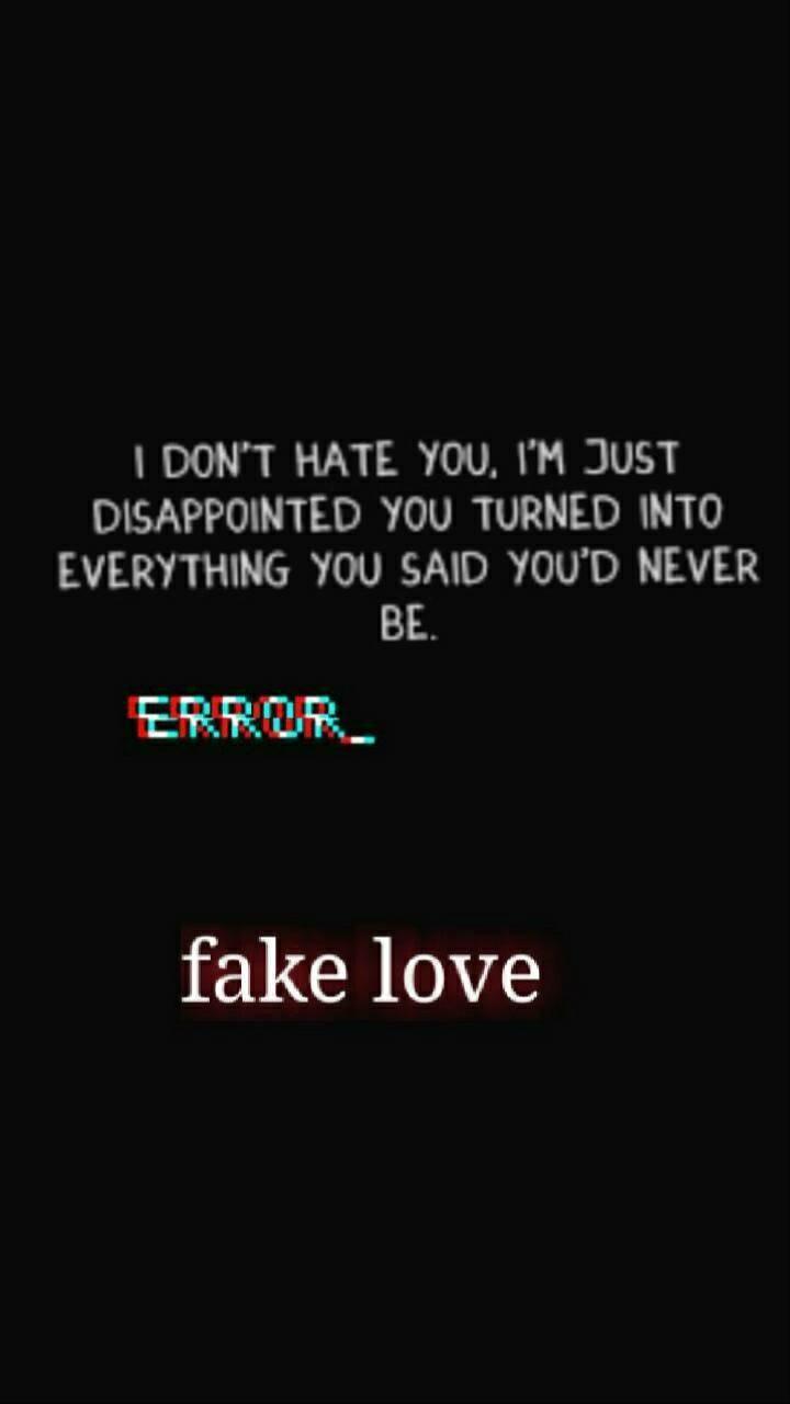 Fake Love problems